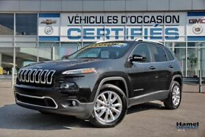 2016 Jeep CHEROKEE 4X4 LIMITED TOIT PANORAMIQUE+NAVIGATION