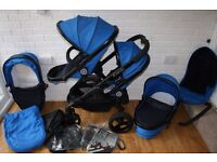 iCandy Peach 3 blossom twin double pram Blue Colbat CAN POST
