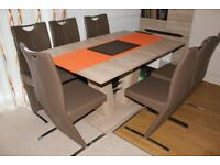 4 Dining faux leather chairs