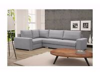 Brand New Modern Corner Sofa Bed Left Right Hand Side Tornado With Storage Box and Sleeping Function