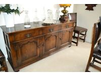 Beautiful Solid Dark Oak Sideboard - Used in Excellent Condition