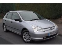 2003 Honda Civic 12MONTHS MOT Comprehensive full Service History drives GREAT £675 BARGAIN!!!