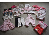 baby girl bundle of clothes 0-3, including Next Mothercare Junior J, very good condition