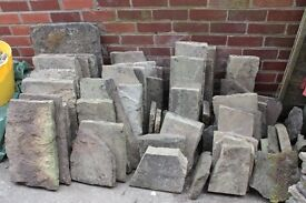 York stone assorted size paving approx 8m2