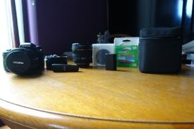 Pentax camera and lense
