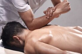 Athletic Male Masseur offering full body sports / Relaxing massage