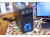 Custom Quad Core Gaming PC AMD A10-6700 3.7GHz 8GB RAM 250GB Windows 10 Radeon Graphics HDMi