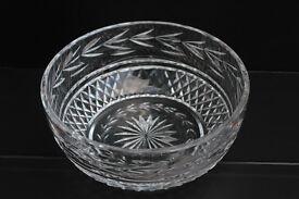 Large Vintage Waterford Crystal Bowl Irish Hand Cut Gothic Mark Fruit Bowl Salad Bowl