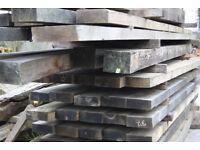 Large stock of air dried seasone oak beams for sale
