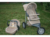 Mothercare Urban Detour Travel System 3 Wheel PRAM/PUSHCHAIR/BUGGY & CAR SEAT, collect nr Swansea Vy
