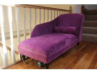 Purple chaise longue
