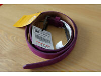 Zara Leather Purple Belt Brand New