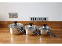 Russell Hobbs saucepan set of three