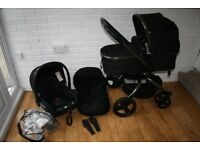 Mothercare Orb Black pram pushchair with car seat 3 in 1 CAN POST