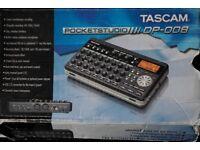 Tascam DP-008 Digital 8-Track Pocketstudio Multi-Track Studio Recorder