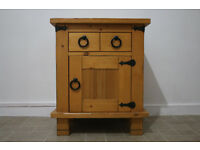 solid wood / bedside table / pine / nightstand / drawer / storage unit