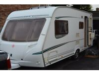 ABBEY VOGUE GTS 4 BERTH CARAVAN 2005 WITH FULL AWNING AND REMOTE MOTOR MOVER