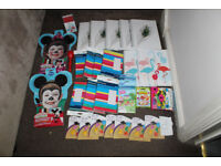 JOBLOT CAR BOOT RESALE BUNDLE ALL NEW STATIONERY GIFT BOXES A4 HARDBACK NOTEPADS DISNEY FACEPAINTS