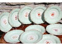 10 Stunning Handpainted Victorian Dessert Plates Flower Antique Vintage Mark Worcester Display Plate