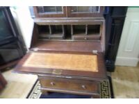vintage writing desk and bookcase