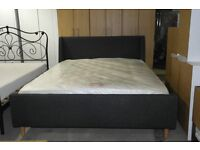 BRAND NEW WINGED KING SIZE BED WITH BRAND NEW MATTRESS!!!!!