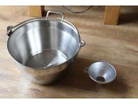Stainless Steel Preserve Making 8 Litre Jam Chutney Pan Bucket