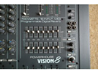 Studiomaster Powerhouse Vision 8 Powered Mixing Desk