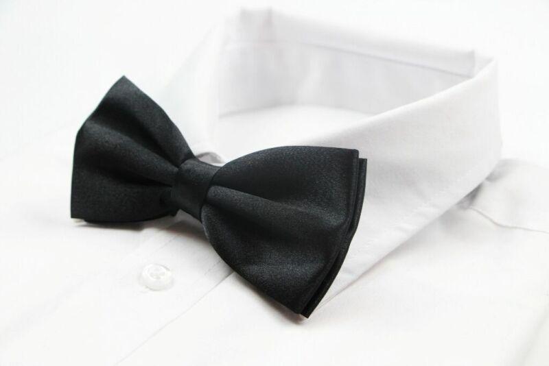 Mens Black Bow Tie Pre-tied Wedding Formal Classic Fashion Fancy Accessory Cheap