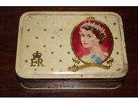 Vintage Souvenir Tin Queen Elizabeth II Coronation 2nd June 1953