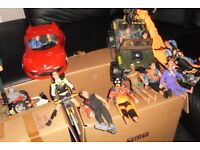 Action Man figures with Jeep and Red Road Car & lots more