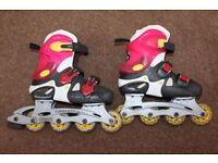 Inline roller boot skates size 1