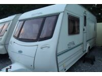 coachman festival 4 berth 2004 fixed bed touring caravan with motor movers