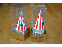 party hats (box of eight unused) two boxes