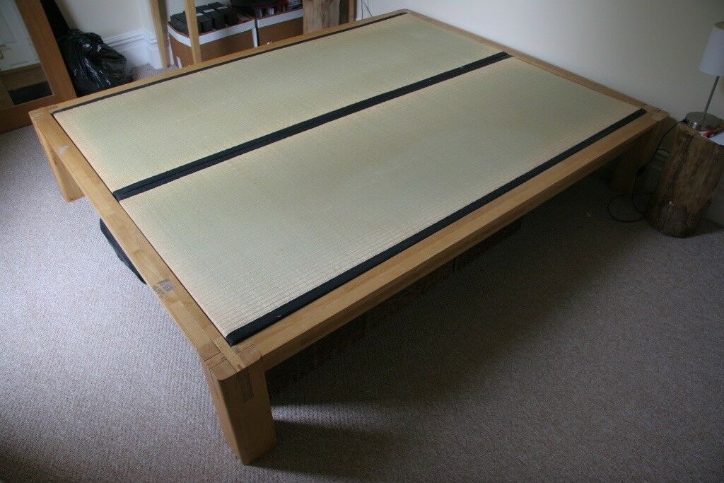 Tatami Double King Size Bed From The Futon Company 865 New