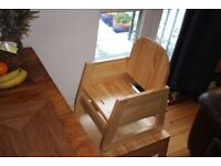 Wooden Baby chair / toddler table and chair