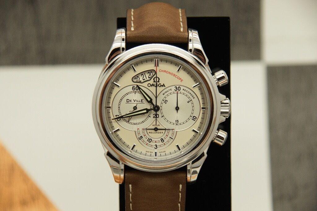 omega de ville co axial chronoscope chronograph mens watch 4850 30 omega de ville co axial chronoscope chronograph mens watch 4850 30 37