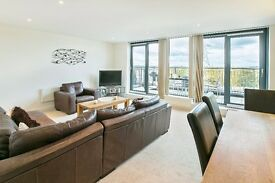 two double bedroom, two bathroom duplex penthouse apartment in Colliers Wood.