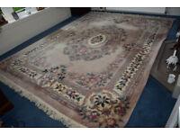 "Beautiful Chinese Washed Carpet 276cm x 370cm (108"" x 145"")"