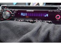 KENWOOD CAR CD RADIO AUX IN PLAY IPOD/PHONE MUSIC/WIRES/CAGE