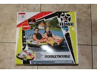 NEW - Jobe Double Trouble 2 Person Inflatable / Towable - Ring - Donut - Biscuit