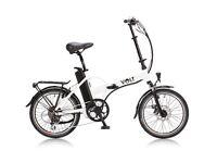 Volt Metro electric folding bike, white