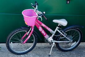 "Pink/Silver Raleigh Krush Girls Bike 20"" Wheels"
