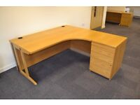 Sturdy Right Hand Return Desk and Drawer Unit £100