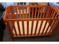 MOTHERCARE PINE CHILDS COT - Includes New Mattress