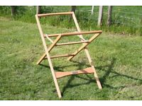 Mamas and Papas Moses Basket Stand Solid Beech Wood