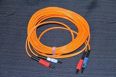 Corning 6-Meters Fiber Optic Cable SC-SC Duplex 2 x 62.5/125um Multimode 19.5-ft 125um Duplex Multimode 2 Meters