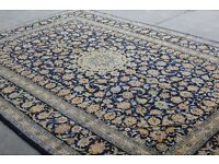 Massive room size Classic Floral design Hand-woven Persian Kashan rug 365x245cm