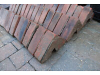 Reclaimed Red Victorian Tipton Triangular Wall Coping Block Brick Period