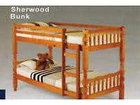 BRAND NEW SINGLE BRAZILIAN PINE BUNK BED FRAME WITH MATTRESSES OF CHOICE SOLID BUNKBED