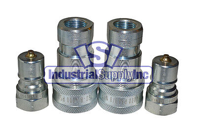 Iso 7241-b 38 Hydraulic Hose Quick Disconnect Coupler 2pk Free Shipping